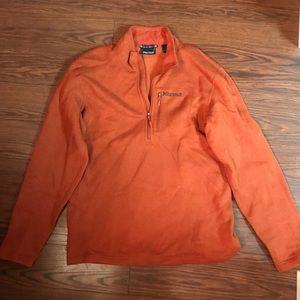 Men's Marmot burnt orange 3/4 zip sweater